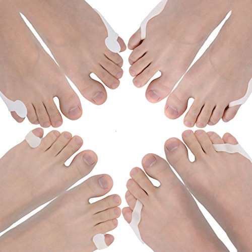 Bunionette Corrector & Tailor's Bunion Relief Protector Kits, Relieve Pain from - Overlapping Pinky Toes -Little Toe Separators Spacers Straighteners Splint by Dr.Koyama