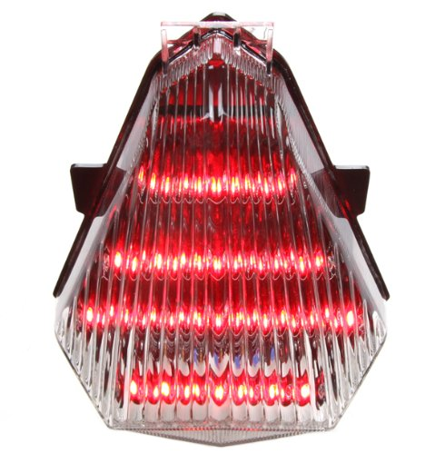 2006-2007 Yamaha YZF R6 Integrated Sequential LED Tail Lights Clear