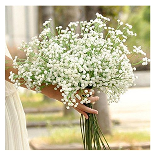 Kemilove 10PCS 1Bouquet Artificial Gypsophila Flower Fake Silk Wedding Party Bouquet Home Decor
