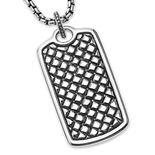 abc4a5e268f79c Equestrian Dog Tag Scott Kay Mens Sterling Silver Necklace for sale  Delivered anywhere in USA