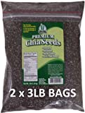 Chia Seeds 6 POUNDS Get Chia Brand = TWO x 3 Pound Bags