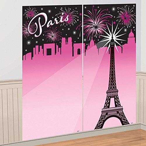 Bridal Shower 'A Day in Paris' Plastic Selfie Backdrop Scene Setter -