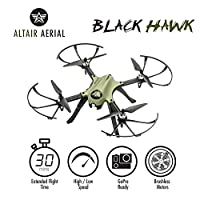 Altair Aerial Blackhawk Long Range & Flight Time Drone w Camera Mount (GoPro Hero3 and Hero 4 Compatible) Extreme Speed & Handling, Heavy Duty Construction, Powerful Quadcopter by ALTAIR INC
