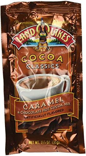 Caramel Chocolate Hot Chocolate - Land O Lakes Cocoa Classics Caramel and Chocolate Hot Cocoa Mix: 1.25 oz- 12 pack