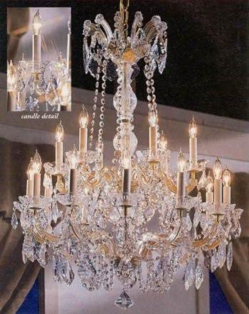 Maria Theresa Crystal Chandelier Made with Swarovski Crystal Chandeliers Lighting 30 X28