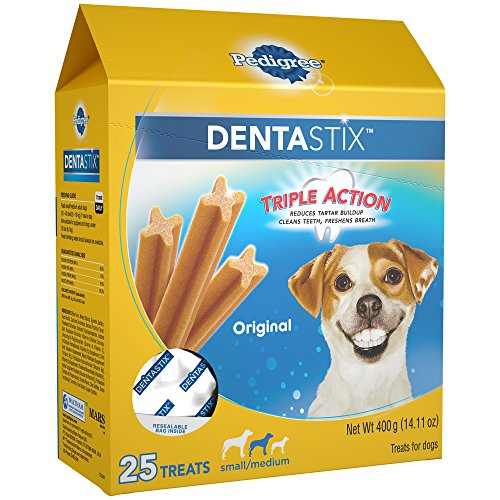 PEDIGREE DENTASTIX Small/Medium Dental Dog Treats Original, 14.1 oz. Pack (25 Treats) ()