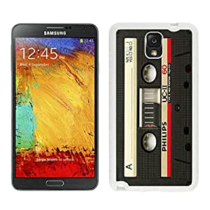 Samsung Galaxy Note 3 Case Classical Audio Cassette White Cell Phone Hard Cover Accessories