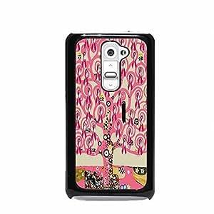 Klimt Tree Of Life (Hope) Cancer Awareness Pink LG G2 Hard Plastic Case (Not for Verizon)