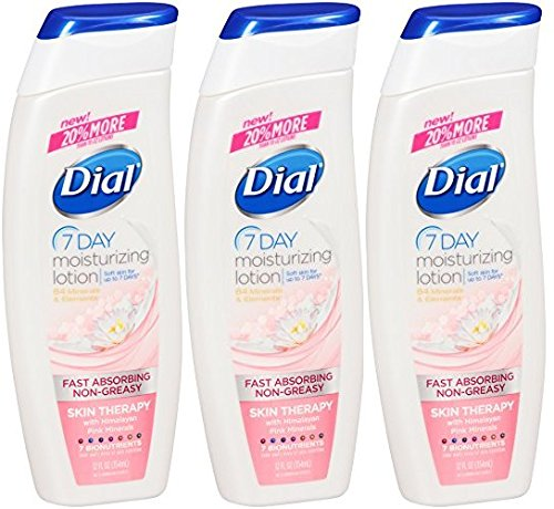 (Dial Lotion Skin Therapy with Himalayan Pink Minerals, 12 Ounce (3 Pack))