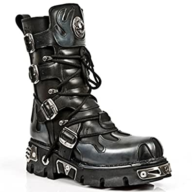 New Rock Boots Unisex Style 591 S2 Silver (36)