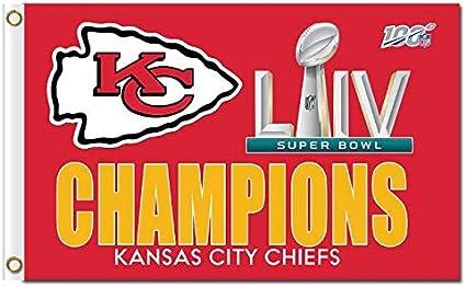 Fremont Die NFL Kansas City Chiefs Super Bowl 2020 Champions 3 X 5 Flag