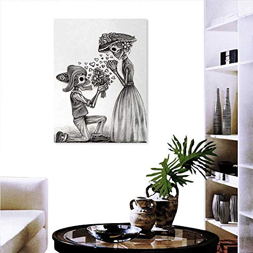 familytaste Day The Dead The Picture Home Decoration Mariage Proposal Till Life Do us Apart Dead Day Festive Art Print Wall Stickers 20