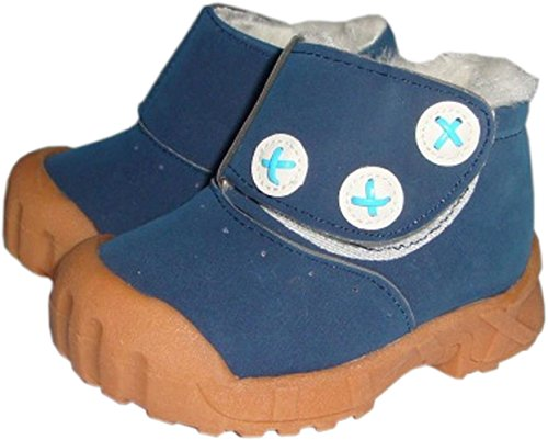 Jiazibb 100% Leather Nubuck Unisex Baby Infant Toddler Prewalker First Walkers Snow Boots (Insole Length:140mm EUR 23, - Boots 140 Mm