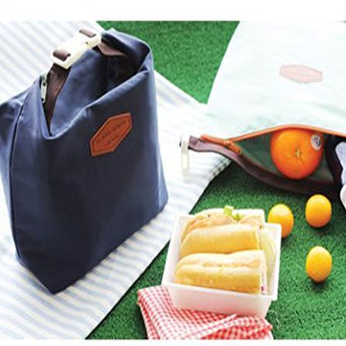 HighlifeS Lunch Bag Waterproof Thermal Fashion Cooler Insulated Lunch Box More Colors Portable Tote Storage Picnic Bags (Navy) by HighlifeS (Image #4)