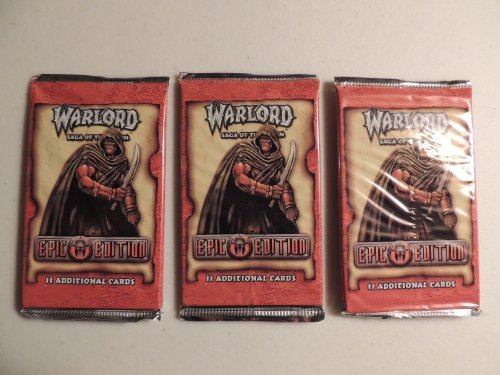 Warlord Saga of the Storm Ccg Epic Edition Booster Packs, Lot of 3 Battle - Ccg Warlord