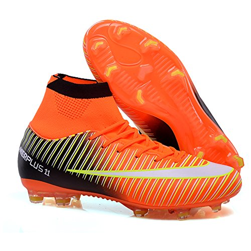 ca4f3ae6ac6 AUJESS New Soccer Shoes For Men 2018 High Top Superfly FG Soccer Cleats  Outdoor Light up
