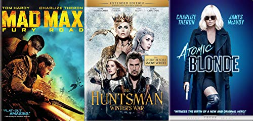 Oscar Winner and Lovely Leading Lady Charlize Theron's Action Adventure Collection- Mad Max Fury Road & Huntsman Winter's War & Atomic Blonde (3 Feature Film DVD Bundle)