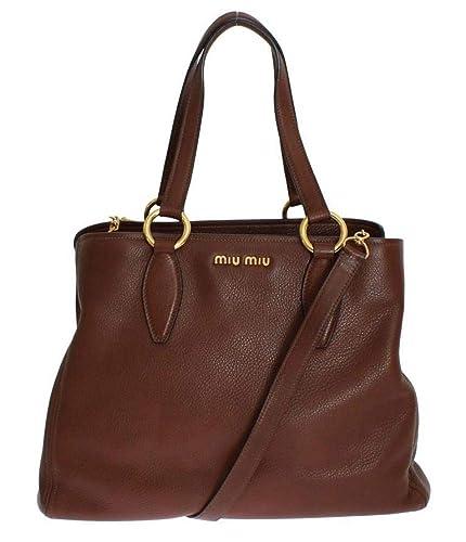 Miu Miu Vitello Diano RR1901 2E67 F0038  Amazon.co.uk  Shoes   Bags 173cbbe8eacb4