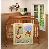 Little Bedding by NoJo 3 Piece Comforter Set, Safari Kids