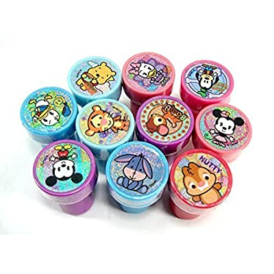 Disney Mickey and Minnie Clubhouse Cuties Self-Inking 10pc Stamps Party Favors: Toys & Games