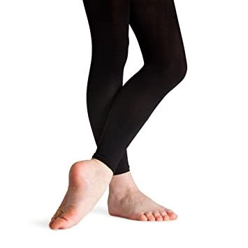 d4b305339cde1 Ladies Footless Black Dance tights: Amazon.co.uk: Sports & Outdoors