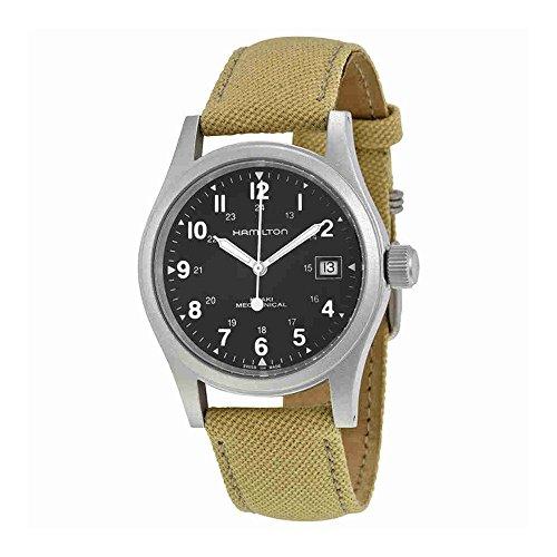 Hamilton Mechanical Watches - Hamilton Men's H69419933 Khaki Field Black Dial Watch