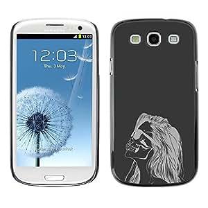 Be Good Phone Accessory // Dura Cáscara cubierta Protectora Caso Carcasa Funda de Protección para Samsung Galaxy S3 I9300 // Hipster Woman Skull