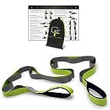 "Gravity Fitness Stretching Strap, Premium Quality Multi-loop Strap, Neoprene Padded Handles, 12 Loops, 1.5"" W x 8' L"