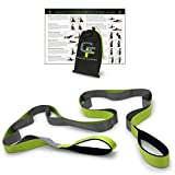 "Gravity Fitness Stretching Strap, Premium Quality Multi-loop Strap, Neoprene Padded Handles, 12 Loops, 1.5"" W x 8' L"