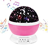 Music Night Light Projector Lamp Baby Star Projector 360 Degree...