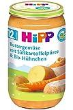 HiPP Buttergemüse mit Süßkartoffelpüree und Bio-Hühnchen, 6er Pack (6 x 250 g)