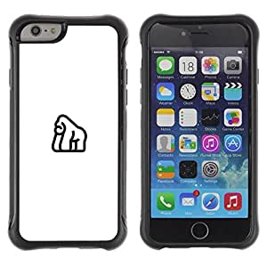 LASTONE PHONE CASE / Suave Silicona Caso Carcasa de Caucho Funda para Apple Iphone 6 PLUS 5.5 / Gorilla all in white