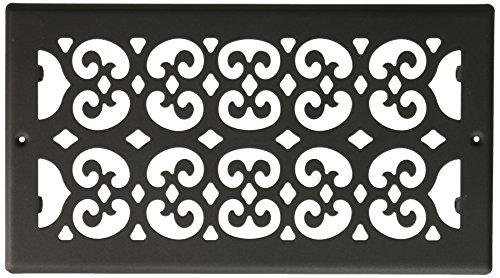 Decor Grates S612R 6-Inch by 12-Inch Painted Return Air, Black Textured