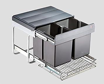 Wesco Einbau Abfallsammler 30 Liter + Ablage Vollauszug Mülleimer ...