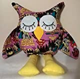 Superhero Girls Stuffed Owl/Stuffed Owl gifts/Gifts for Her