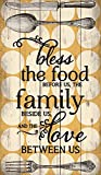 P. GRAHAM DUNN Bless The Food Polka Dot Design 24 x 14 Wood Pallet Wall Art Sign Plaque Review