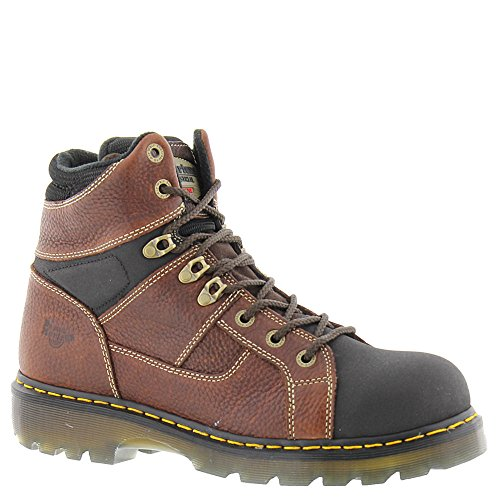 Martens Unisex Safety Boots - Dr. Martens Unisex Ironbridge Tec-Tuff ST 8 Tie Boots, Brown Leather, 9 M UK, M10/W11 M US