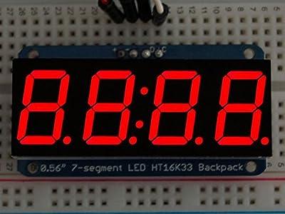 "Adafruit 0.56"" 4-digit 7-segment Display W/i2c Backpack"