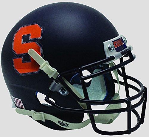 Schutt Syracuse Orangemen Mini XP Authentic Helmet Matte Navy - Licensed NCAA Merchandise
