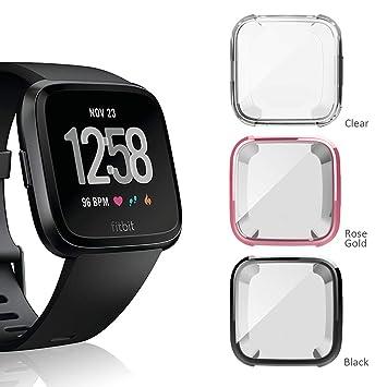 Anzela - Funda para Fitbit Versa Smartwatch, Suave TPU Slim ...