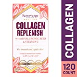 Reserveage - Collagen Replenish Caps, Supports Natural Collagen Production, Hydration, and the Reduction of Wrinkles and Fine Lines with Hyaluronic Acid and Vitamin C, Gluten Free, 120 Capsules