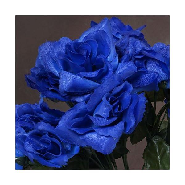 BalsaCircle 252 Royal Blue Silk Open Roses – 36 Bushes – Artificial Flowers Wedding Party Centerpieces Arrangements Bouquets Supplies