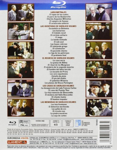 Sherlock Holmes Collection - 10-Disc Box Set ( The Memoirs of Sherlock Holmes / The Sign of Four / The Hound of the Baskervilles / The Master Blackmailer / The La [ Blu-Ray, Reg.A/B/C Import - Spain ]