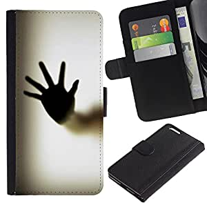 All Phone Most Case / Oferta Especial Cáscara Funda de cuero Monedero Cubierta de proteccion Caso / Wallet Case for Apple Iphone 6 PLUS 5.5 // Hand Palm Window Fingerprint Art Body