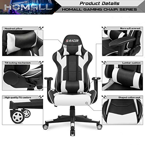 Executive Office Chair Computer PC Chair Pad Seat PU leather Adjustable Swivel