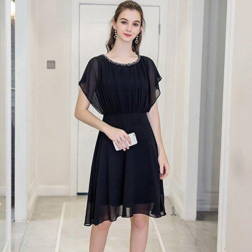 Fashion Fat Cordon 2018 Pure Gras Nouveau MM MiGMV Robes Black Nail Robe Code Soeur 2XL Color Chiffon big ISOxwv5Hq