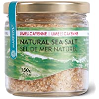 Natural Lime & Cayenne Sea Salt/Fleur de Sel - Organic - Manually harvested in Vancouver Island, Canada