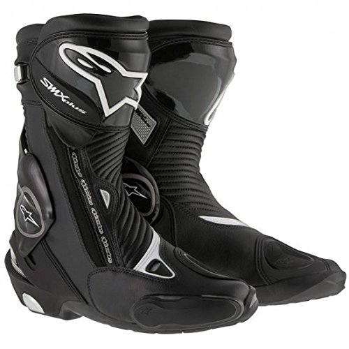 (Alpinestars SMX Plus Men's Street Motorcycle Boots - Black / 44)
