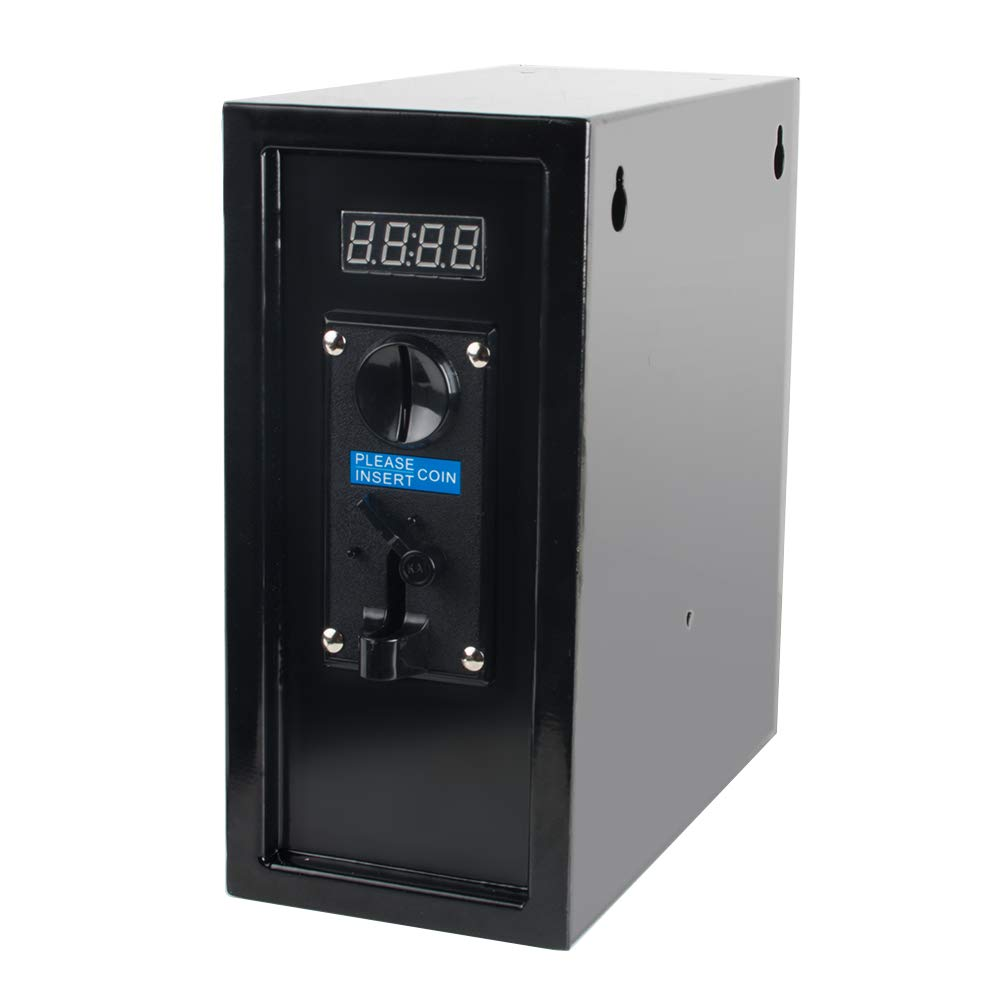 Pevor Coin Operated Timer Control Power Supply Box Coin Acceptor Programmable Control Coin Acceptor Multi Coin Selector for Vending Machine Electronicial Device 110V (Black) by Pevor