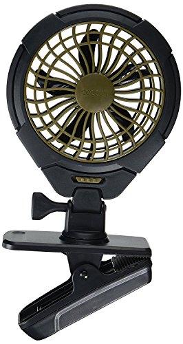 O2COOL 5-Inch Battery Operated Clip Fan, Camping Fan, Portable Fan, Battery Operated Portable Fan, Adjustable Clip Fan, AA Battery Fan, Rotating Fan, 5-Inch Fan